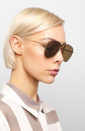 Мужские солнцезащитные очки MONTBLANC золотого цвета, арт. MB0078 001 | Фото 2
