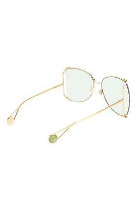 Женские солнцезащитные очки GUCCI голубого цвета, арт. GG0252 012   Фото 4