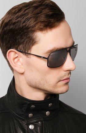 Мужские солнцезащитные очки MONTBLANC серого цвета, арт. MB0104S 002 | Фото 2