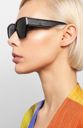 Женские солнцезащитные очки DIOR черного цвета, арт. DI0RID1 807 | Фото 2