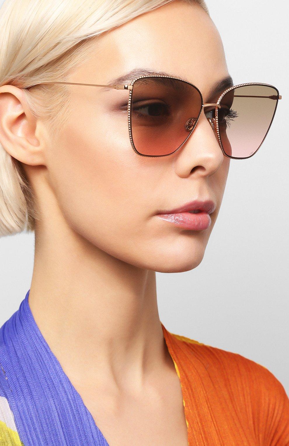 Женские солнцезащитные очки DIOR розового цвета, арт. DI0RS0CIETY1 DDB   Фото 2