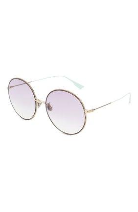 Женские солнцезащитные очки DIOR сиреневого цвета, арт. DI0RS0CIETY2F 3YG   Фото 1 (Тип очков: С/з; Очки форма: Круглые; Оптика Гендер: оптика-женское)