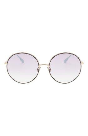 Женские солнцезащитные очки DIOR сиреневого цвета, арт. DI0RS0CIETY2F 3YG   Фото 3