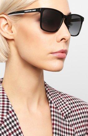 Женские солнцезащитные очки DIOR черного цвета, арт. DI0RB24.2F 807 | Фото 2
