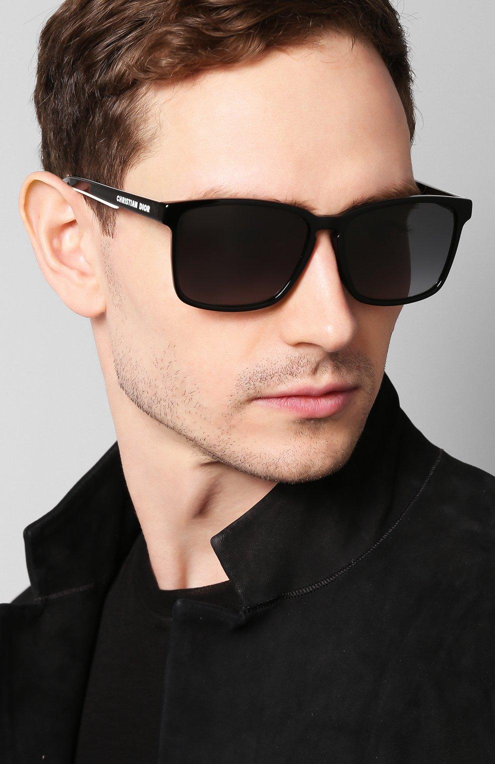 Женские солнцезащитные очки DIOR черного цвета, арт. DI0RB24.2F 807 | Фото 5