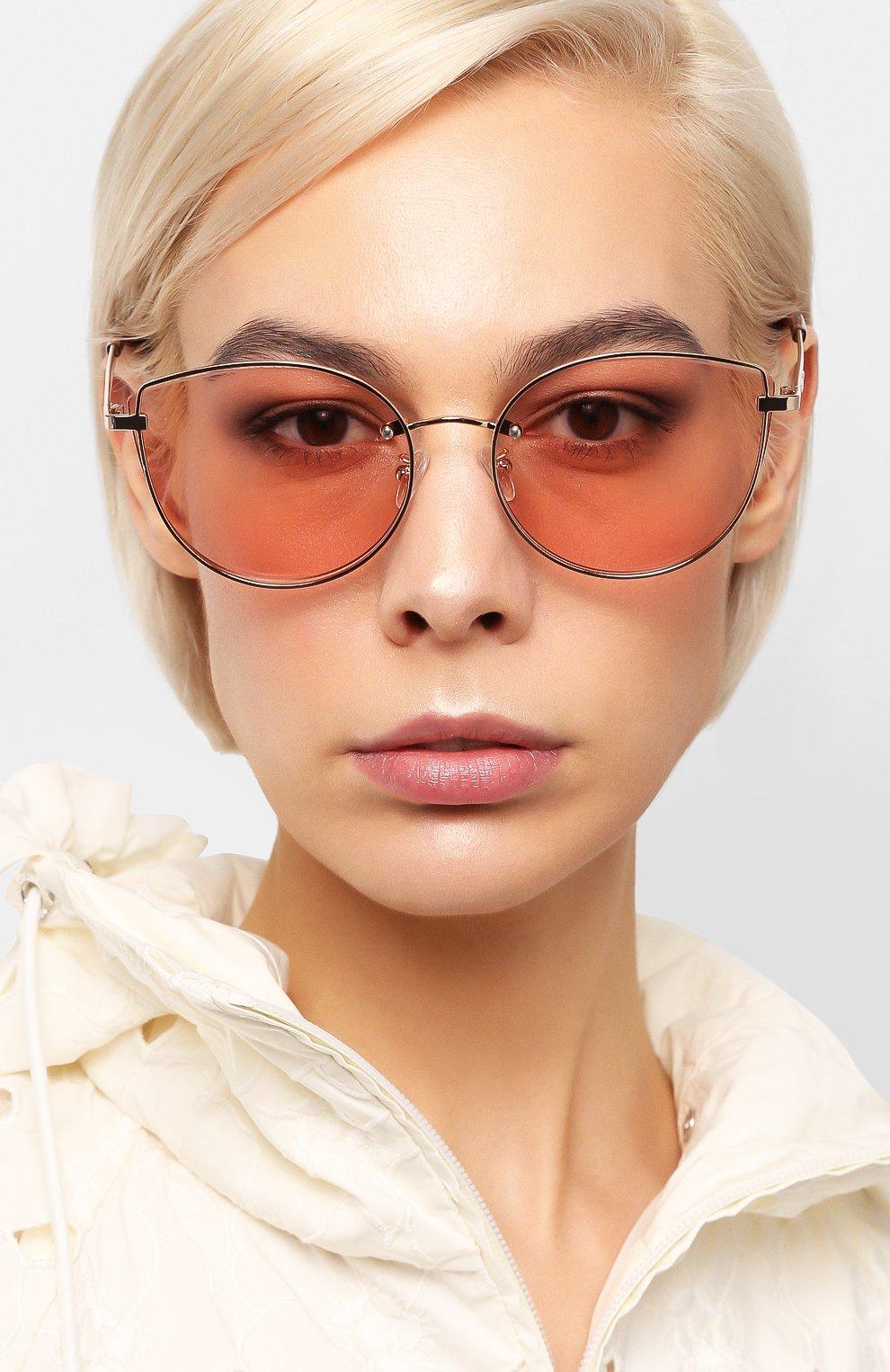 Женские солнцезащитные очки MCQ SWALLOW розового цвета, арт. MQ0248SK 004 | Фото 2