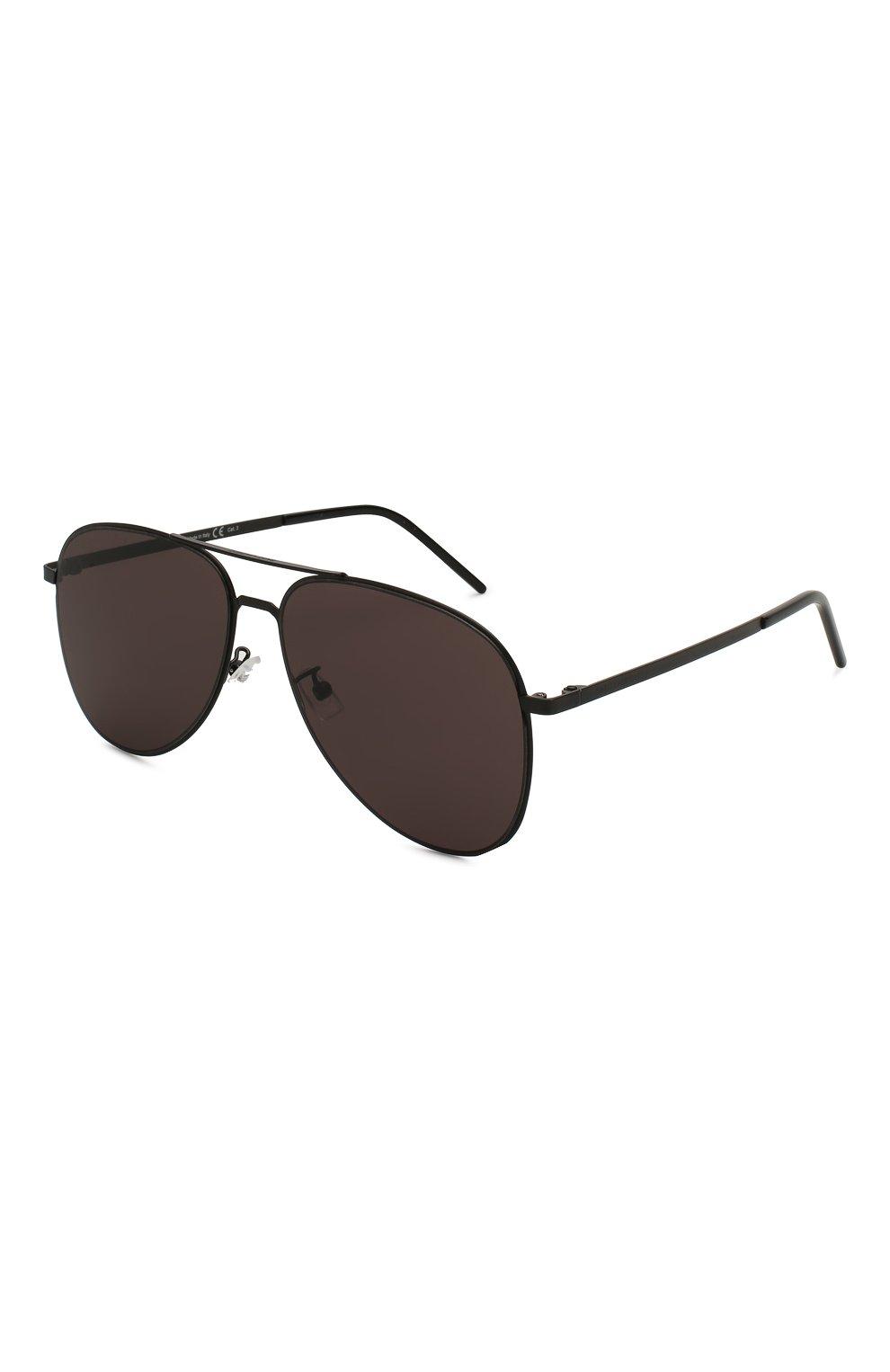 Женские солнцезащитные очки SAINT LAURENT черного цвета, арт. CLASSIC 11 SLIM 002 | Фото 1