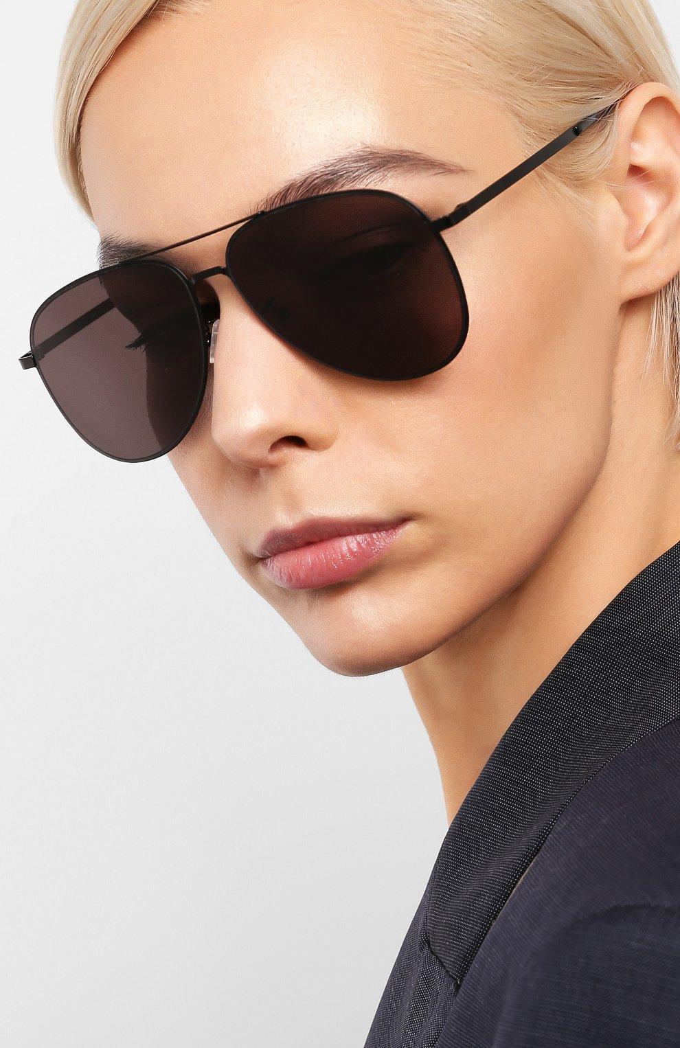 Женские солнцезащитные очки SAINT LAURENT черного цвета, арт. CLASSIC 11 SLIM 002 | Фото 2