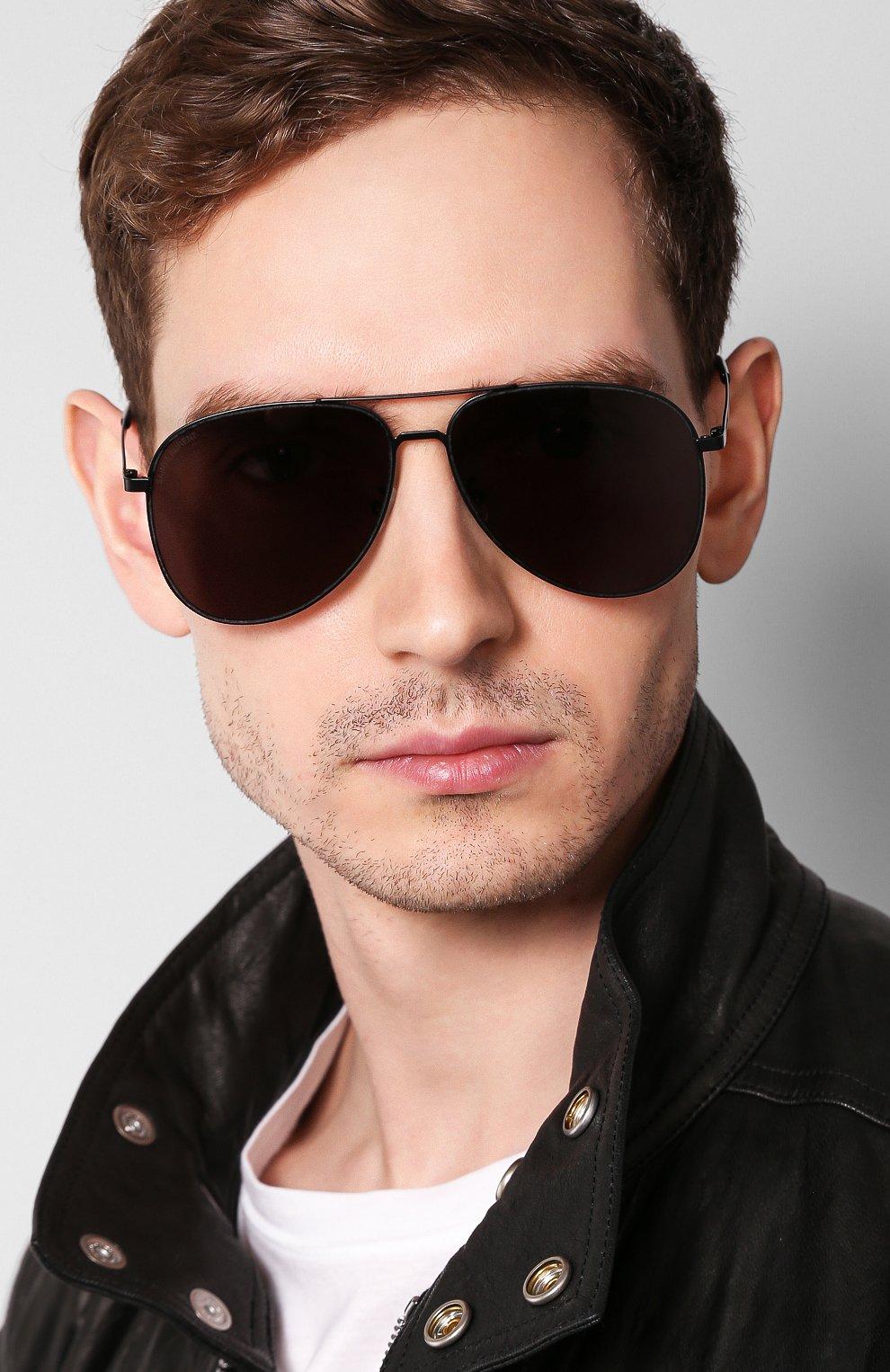 Женские солнцезащитные очки SAINT LAURENT черного цвета, арт. CLASSIC 11 SLIM 002 | Фото 3