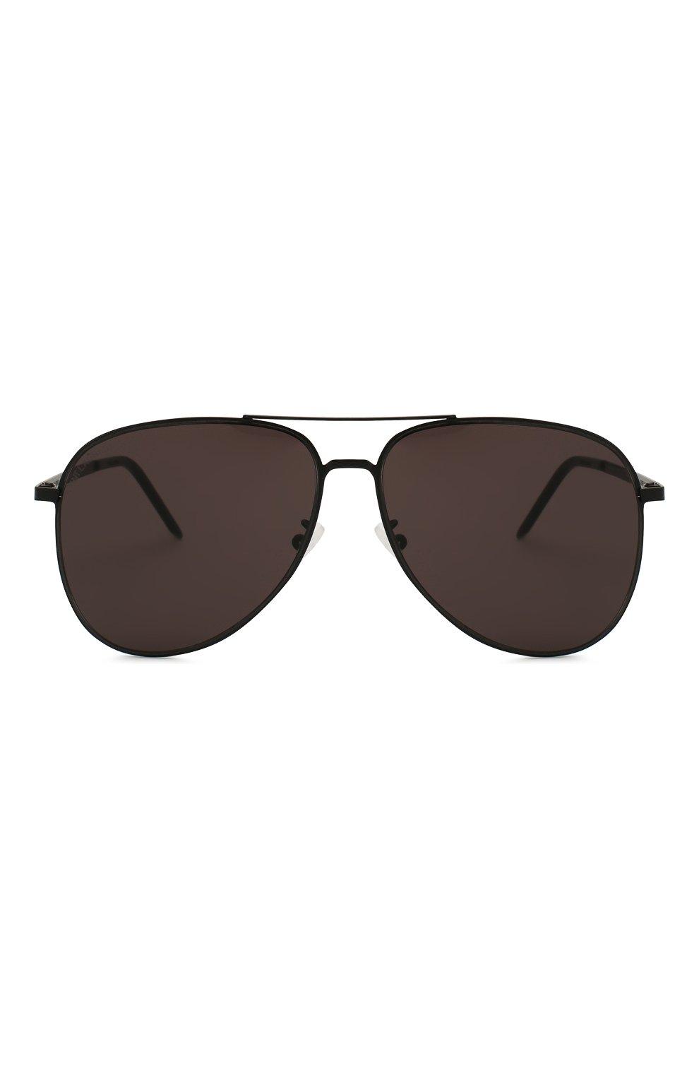 Женские солнцезащитные очки SAINT LAURENT черного цвета, арт. CLASSIC 11 SLIM 002 | Фото 4