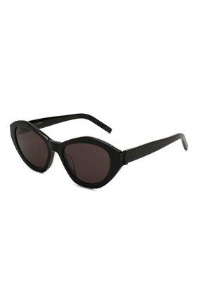 Женские солнцезащитные очки SAINT LAURENT черного цвета, арт. SL M60 001 | Фото 1