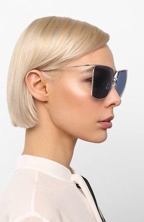 Женские солнцезащитные очки CELINE EYEWEAR синего цвета, арт. CL40135U 16V | Фото 2