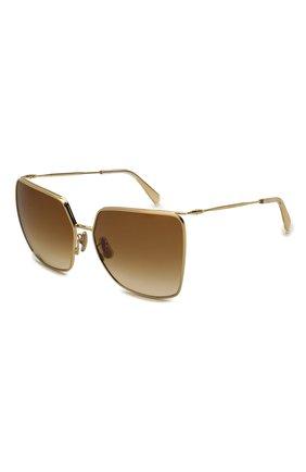 Женские солнцезащитные очки CELINE EYEWEAR коричневого цвета, арт. CL40135U 32F | Фото 1
