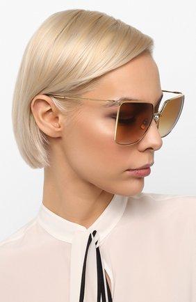 Женские солнцезащитные очки CELINE EYEWEAR коричневого цвета, арт. CL40135U 32F | Фото 2