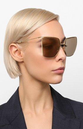 Женские солнцезащитные очки CELINE EYEWEAR коричневого цвета, арт. CL40135U 32L | Фото 2