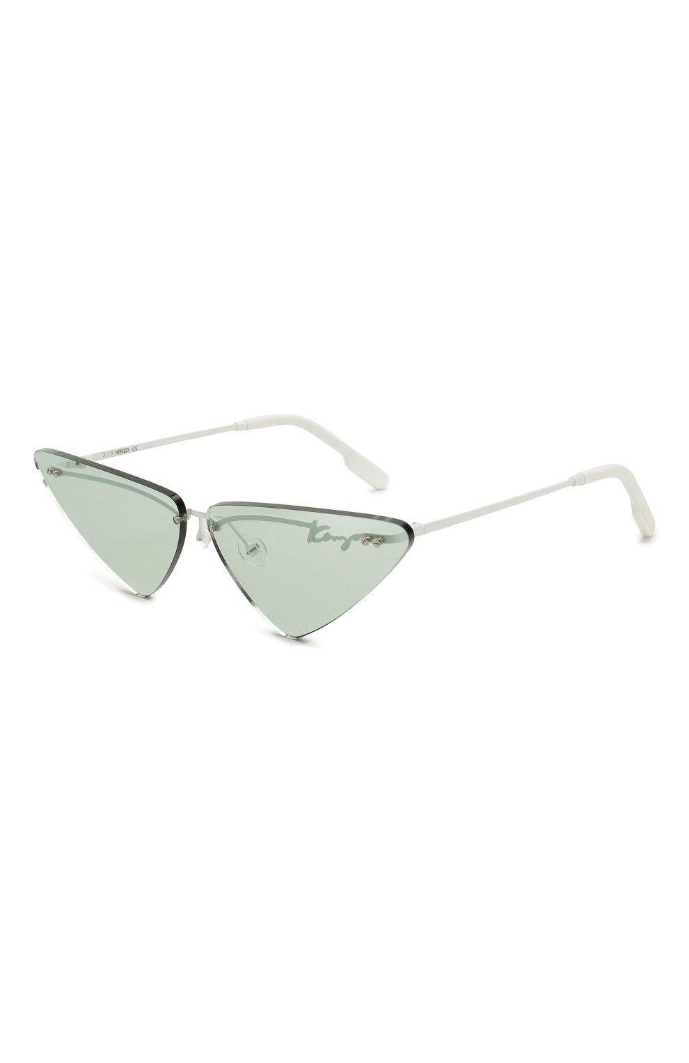 Женские солнцезащитные очки KENZO голубого цвета, арт. KZ40026U 21N   Фото 1