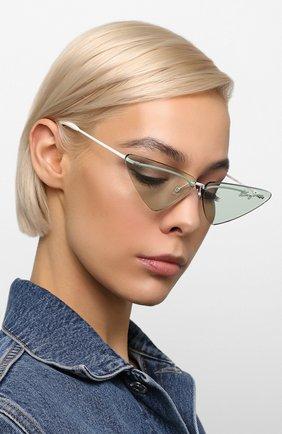 Женские солнцезащитные очки KENZO голубого цвета, арт. KZ40026U 21N   Фото 2