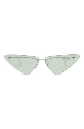 Женские солнцезащитные очки KENZO голубого цвета, арт. KZ40026U 21N   Фото 3