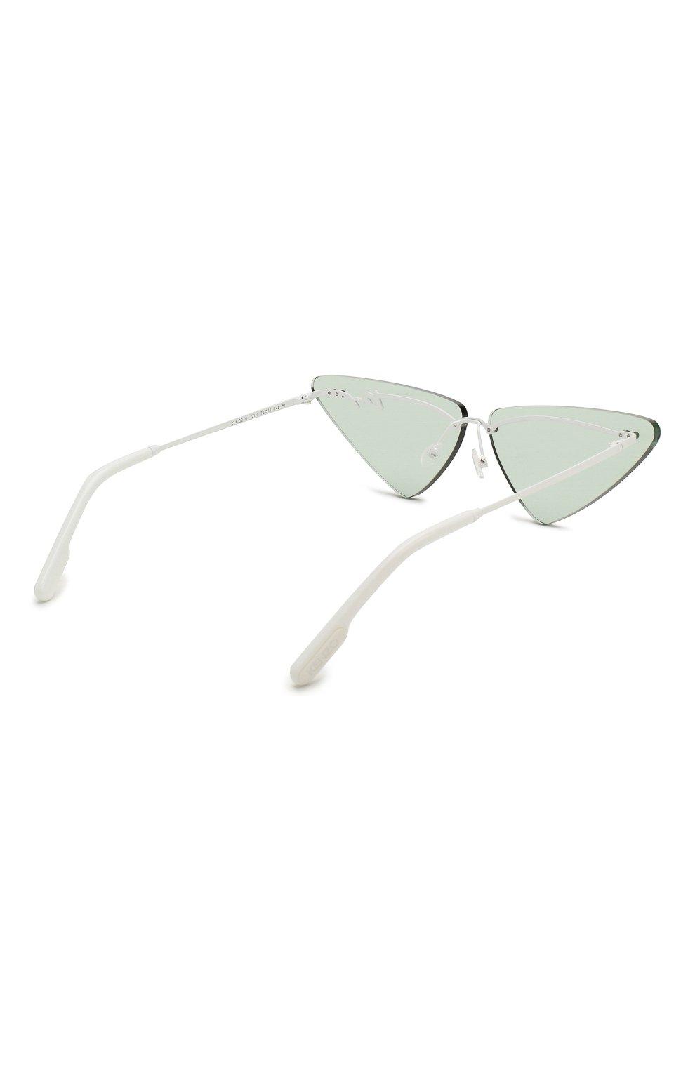 Женские солнцезащитные очки KENZO голубого цвета, арт. KZ40026U 21N   Фото 4