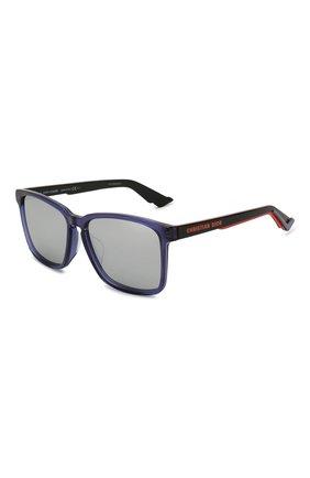 Женские солнцезащитные очки DIOR синего цвета, арт. DI0RB24.2F PJP | Фото 1