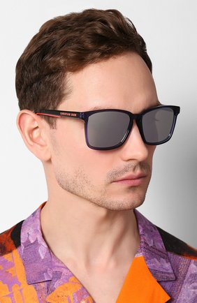 Женские солнцезащитные очки DIOR синего цвета, арт. DI0RB24.2F PJP | Фото 2