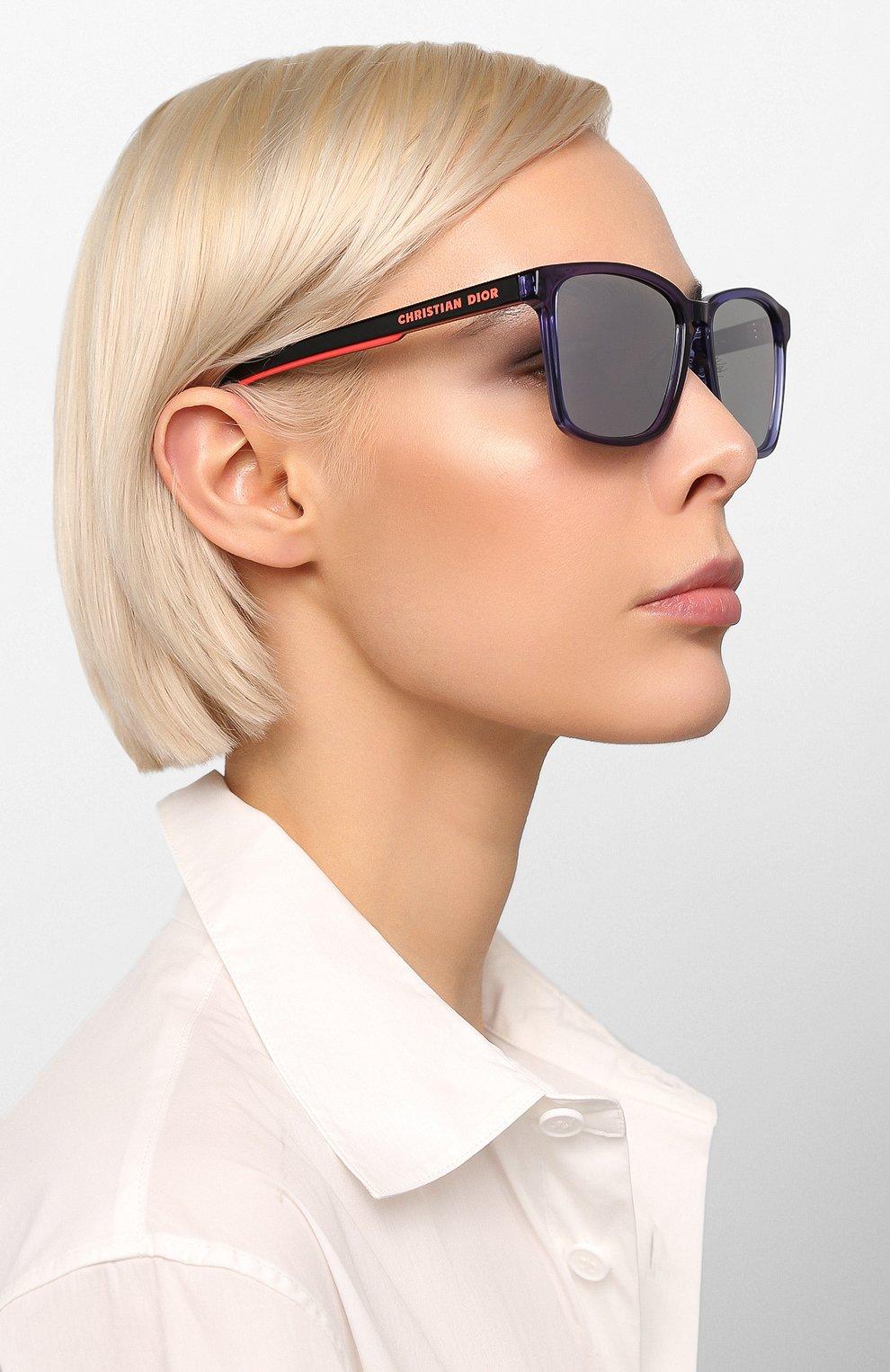 Женские солнцезащитные очки DIOR синего цвета, арт. DI0RB24.2F PJP | Фото 3