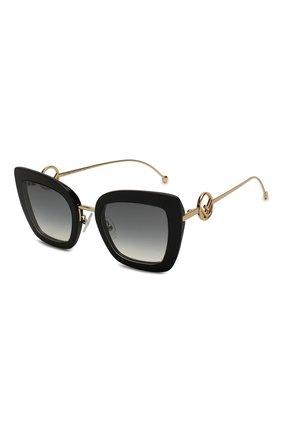 Женские солнцезащитные очки FENDI черного цвета, арт. 0408 807   Фото 1