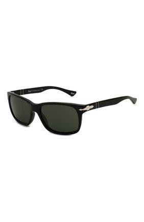 Мужские солнцезащитные очки PERSOL черного цвета, арт. 3048S-95/31 | Фото 1