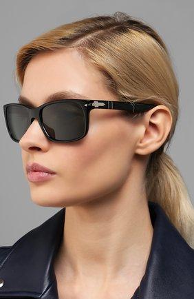 Мужские солнцезащитные очки PERSOL черного цвета, арт. 3048S-95/31 | Фото 2