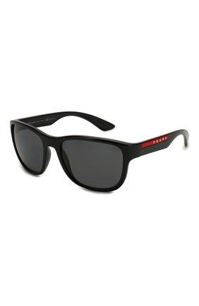 Женские солнцезащитные очки PRADA LINEA ROSSA черного цвета, арт. 01US-1AB5Z1 | Фото 1