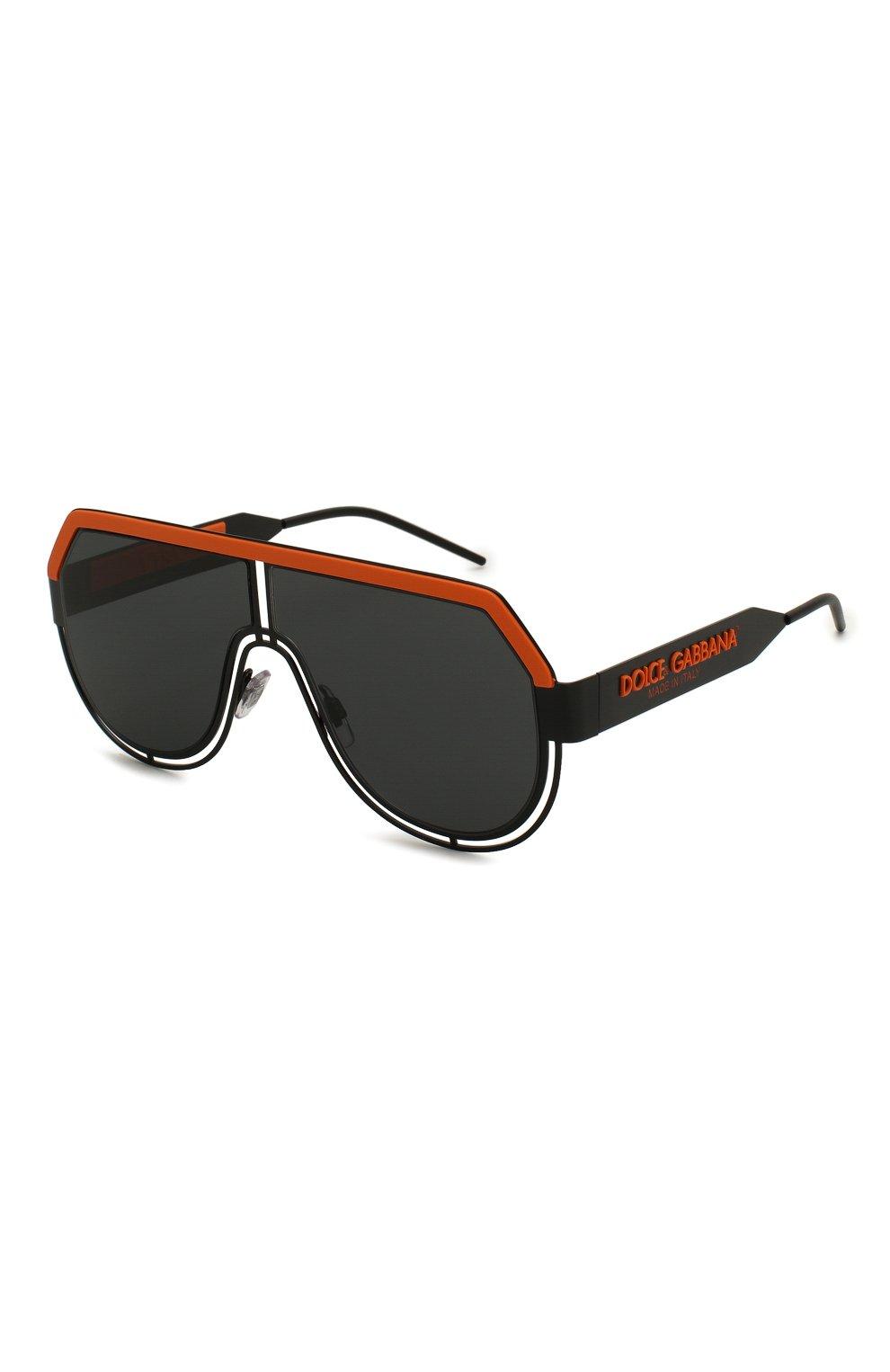 Мужские солнцезащитные очки DOLCE & GABBANA черного цвета, арт. 2231-110687   Фото 1