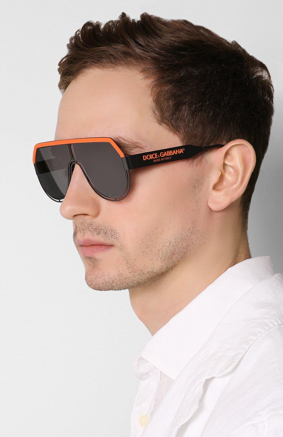 Мужские солнцезащитные очки DOLCE & GABBANA черного цвета, арт. 2231-110687   Фото 2