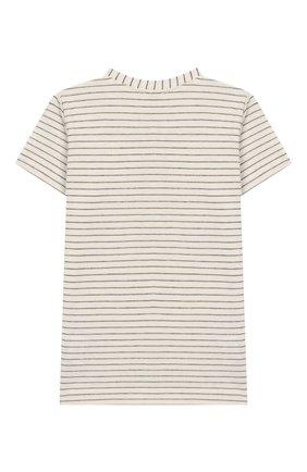 Детский хлопковая футболка ALETTA бежевого цвета, арт. RZ00241MC/1M-2A | Фото 2