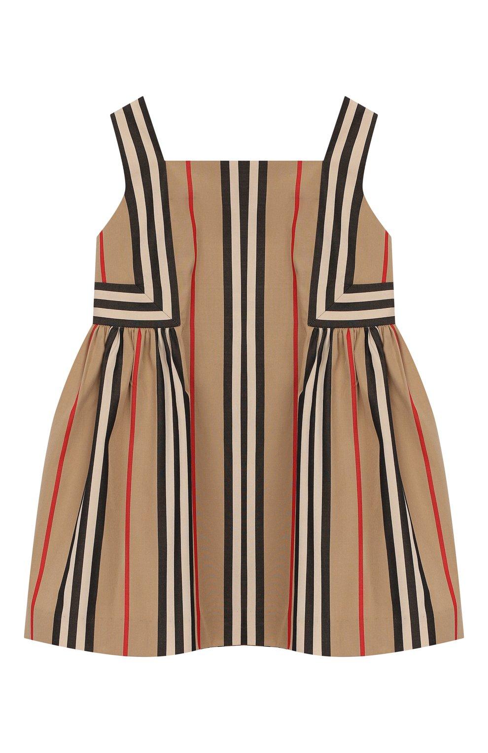 Женский лопковое платье BURBERRY бежевого цвета, арт. 8027492 | Фото 1