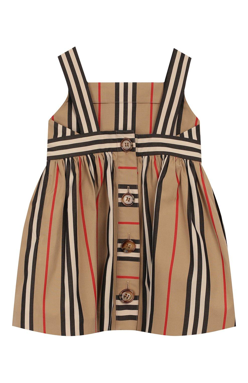 Женский лопковое платье BURBERRY бежевого цвета, арт. 8027492 | Фото 2