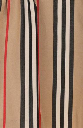 Женский лопковое платье BURBERRY бежевого цвета, арт. 8027492 | Фото 3