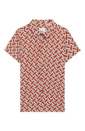 Детская хлопковая рубашка BURBERRY разноцветного цвета, арт. 8026358 | Фото 1