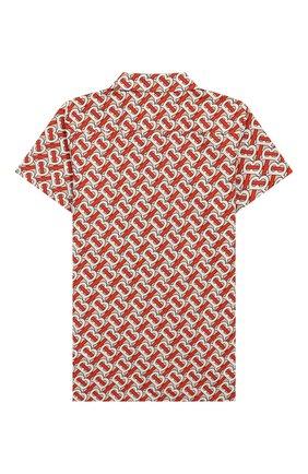 Детская хлопковая рубашка BURBERRY разноцветного цвета, арт. 8026358 | Фото 2