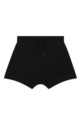Детские хлопковые шорты BURBERRY черного цвета, арт. 8026182 | Фото 1