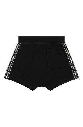 Детские хлопковые шорты BURBERRY черного цвета, арт. 8026182 | Фото 2
