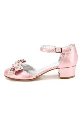 Детские кожаные туфли MISSOURI розового цвета, арт. 78046/27-30 | Фото 2