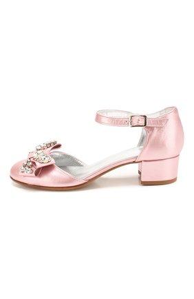 Детские кожаные туфли MISSOURI розового цвета, арт. 78046/35-41 | Фото 2