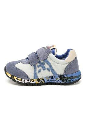 Детские кожаные кроссовки PREMIATA WILL BE синего цвета, арт. LUCY V/1119/T0D   Фото 2