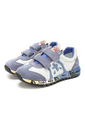 Детские кожаные кроссовки PREMIATA WILL BE синего цвета, арт. LUCY V/1119/CHILD   Фото 1