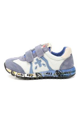 Детские кожаные кроссовки PREMIATA WILL BE синего цвета, арт. LUCY V/1119/CHILD   Фото 2