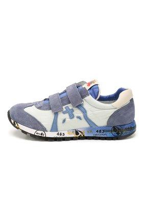 Детские кожаные кроссовки PREMIATA WILL BE синего цвета, арт. LUCY V/1119/JUN   Фото 2