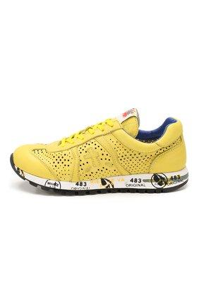 Детские кожаные кроссовки PREMIATA WILL BE желтого цвета, арт. LUCY/1432/JUN   Фото 2