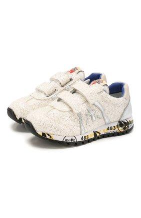 Детские кроссовки PREMIATA WILL BE белого цвета, арт. LUCY V/1221/CHILD   Фото 1