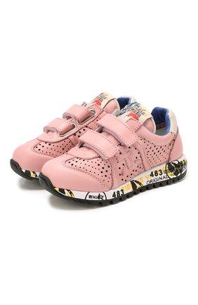 Детские кожаные кроссовки PREMIATA WILL BE розового цвета, арт. LUCY V/1389/T0D   Фото 1