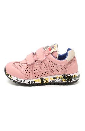 Детские кожаные кроссовки PREMIATA WILL BE розового цвета, арт. LUCY V/1389/T0D   Фото 2